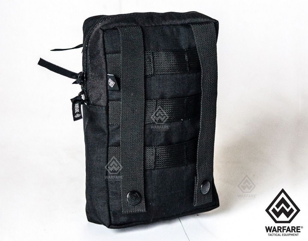 Bolso Vertical Warfare- Com 2 Zíper - Black