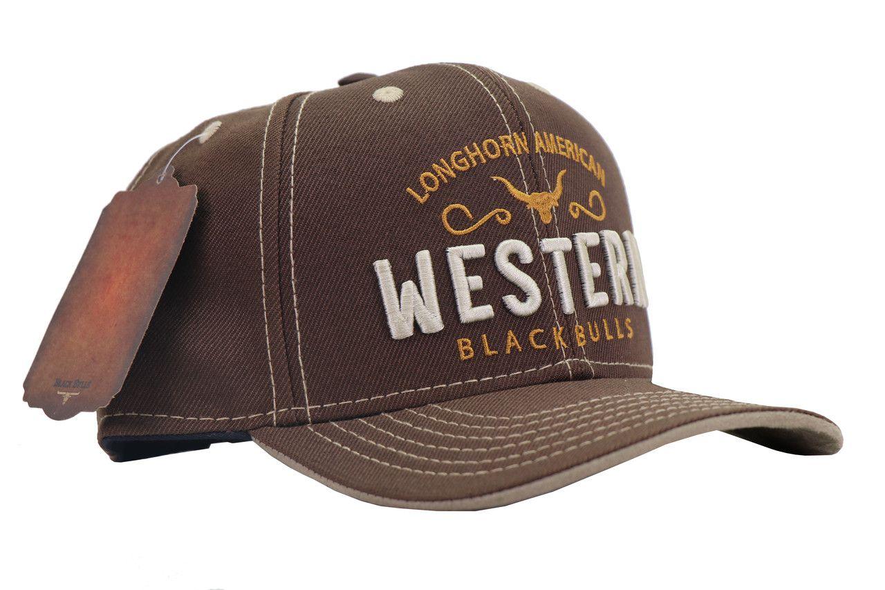 Boné Western Bulls - Marrom