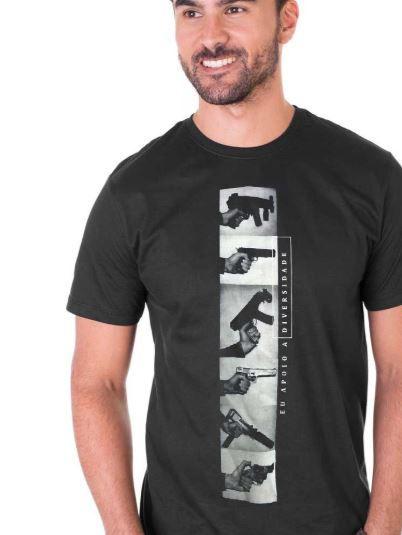 Camiseta Eu Apoio a Diversidade - Preta