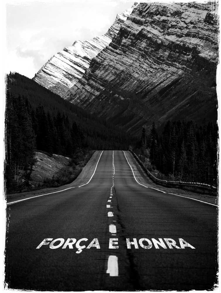 Camiseta Fahur: Força e Honra Estrada - Preto