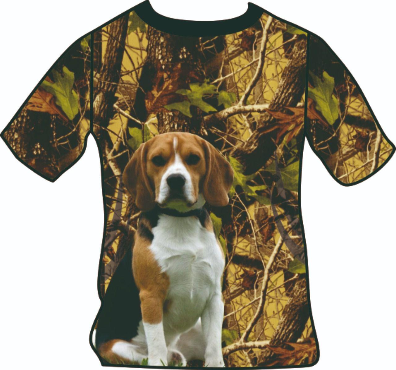 Camiseta manga curta camuflado cachorro infantil