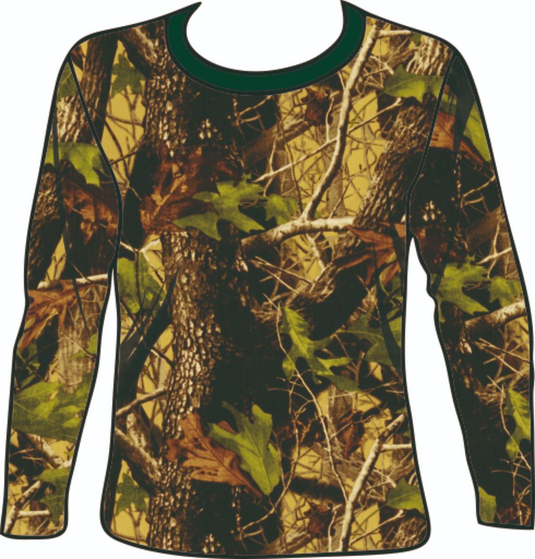 Camiseta manga longa camuflado vegetação