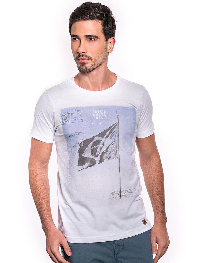 Camiseta Pátria Amada Brasil - Branca