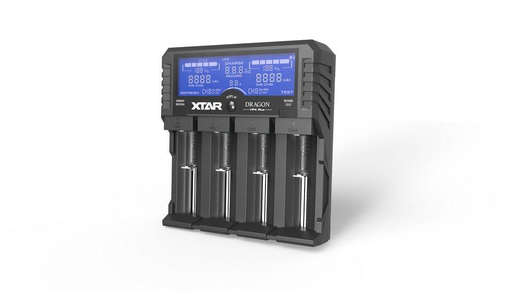 Carregador De Baterias 4 Canais, Com Adaptador Veicular, Modelo VP4 Plus - Xtar