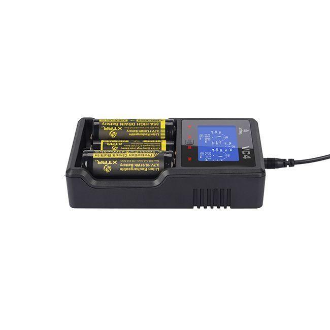 Carregador de Baterias 4 Canais, Entrada 5V USB Modelo VC4 - Xtar