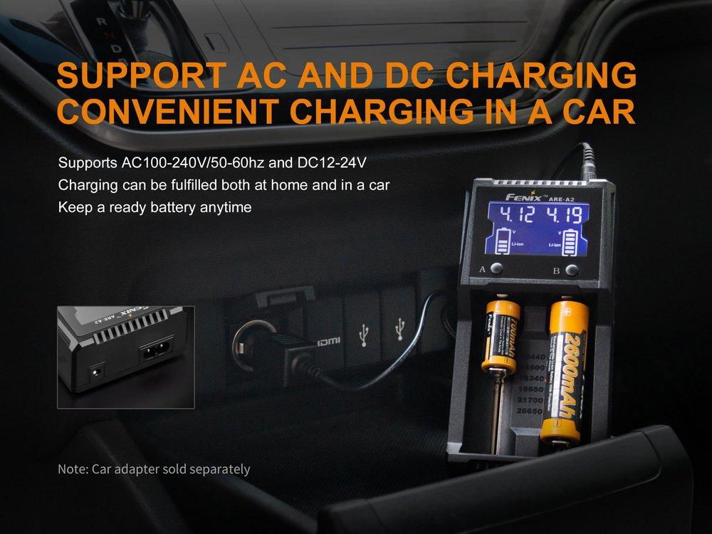 Carregador de Baterias Fenix ARE-A2