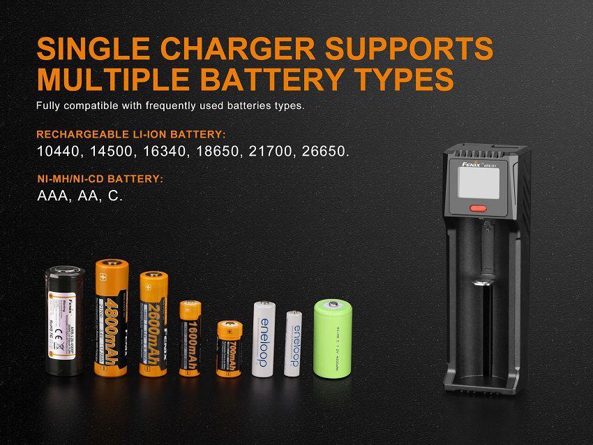 Carregador de Baterias Fenix ARE-D1 - 2019