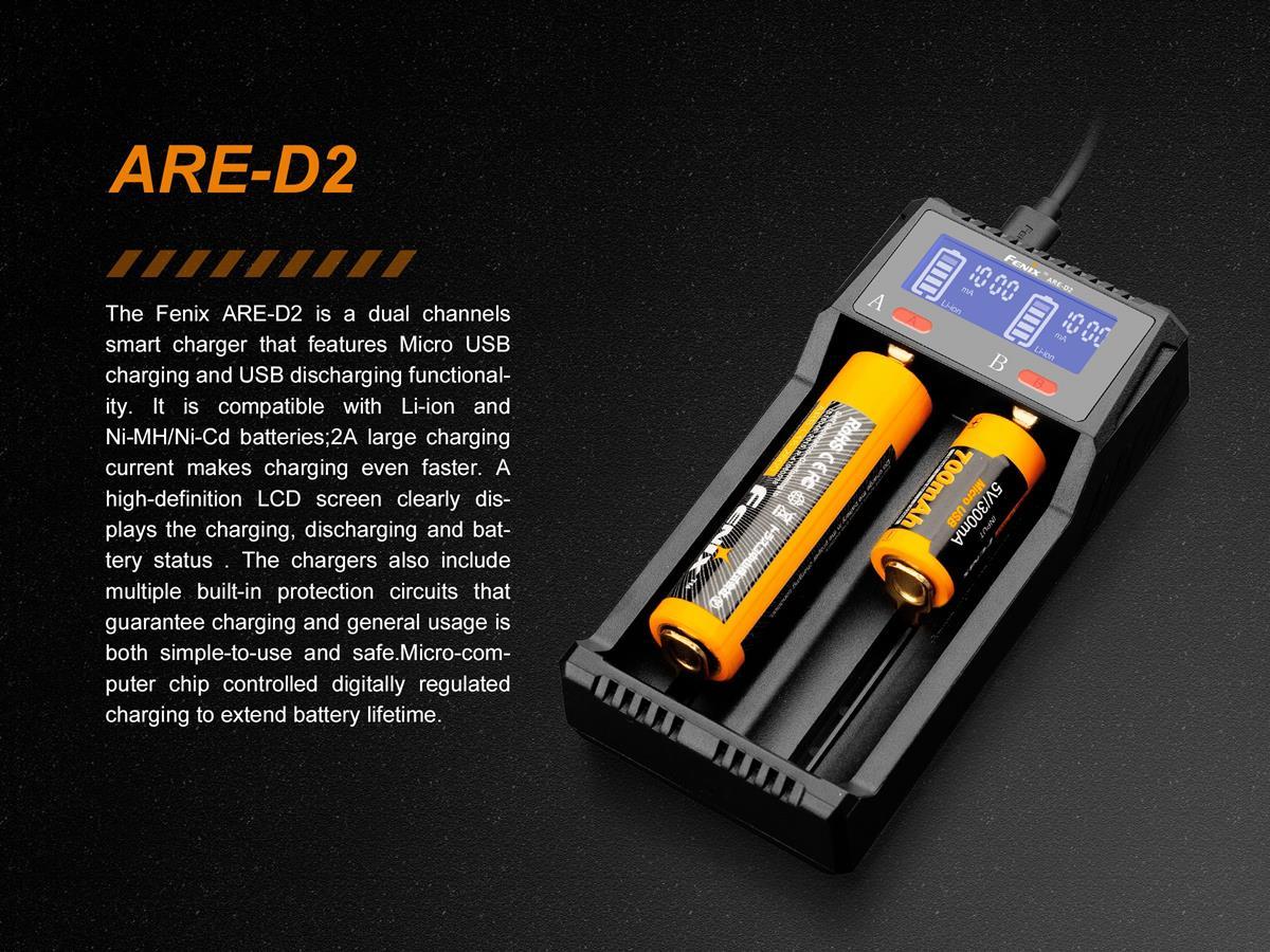 Carregador de Baterias Fenix ARE-D2