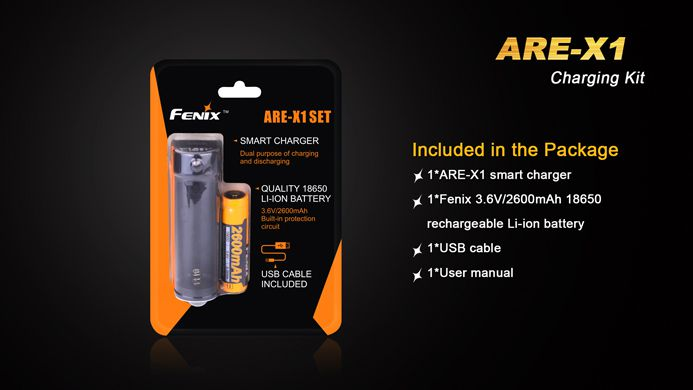 Carregador Fenix ARE X1 - Charging Kit