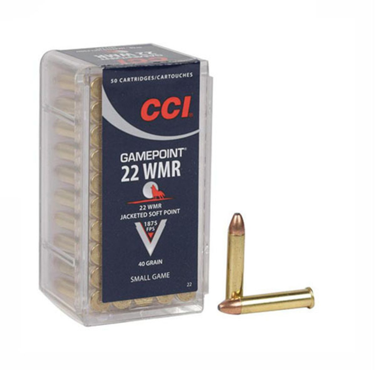 CART CCI .22 MAG GAMEPOINT JSP 40GRC