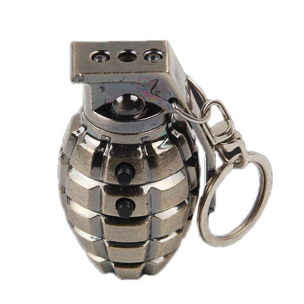 Chaveiro Granada Com Lanterna e Laser
