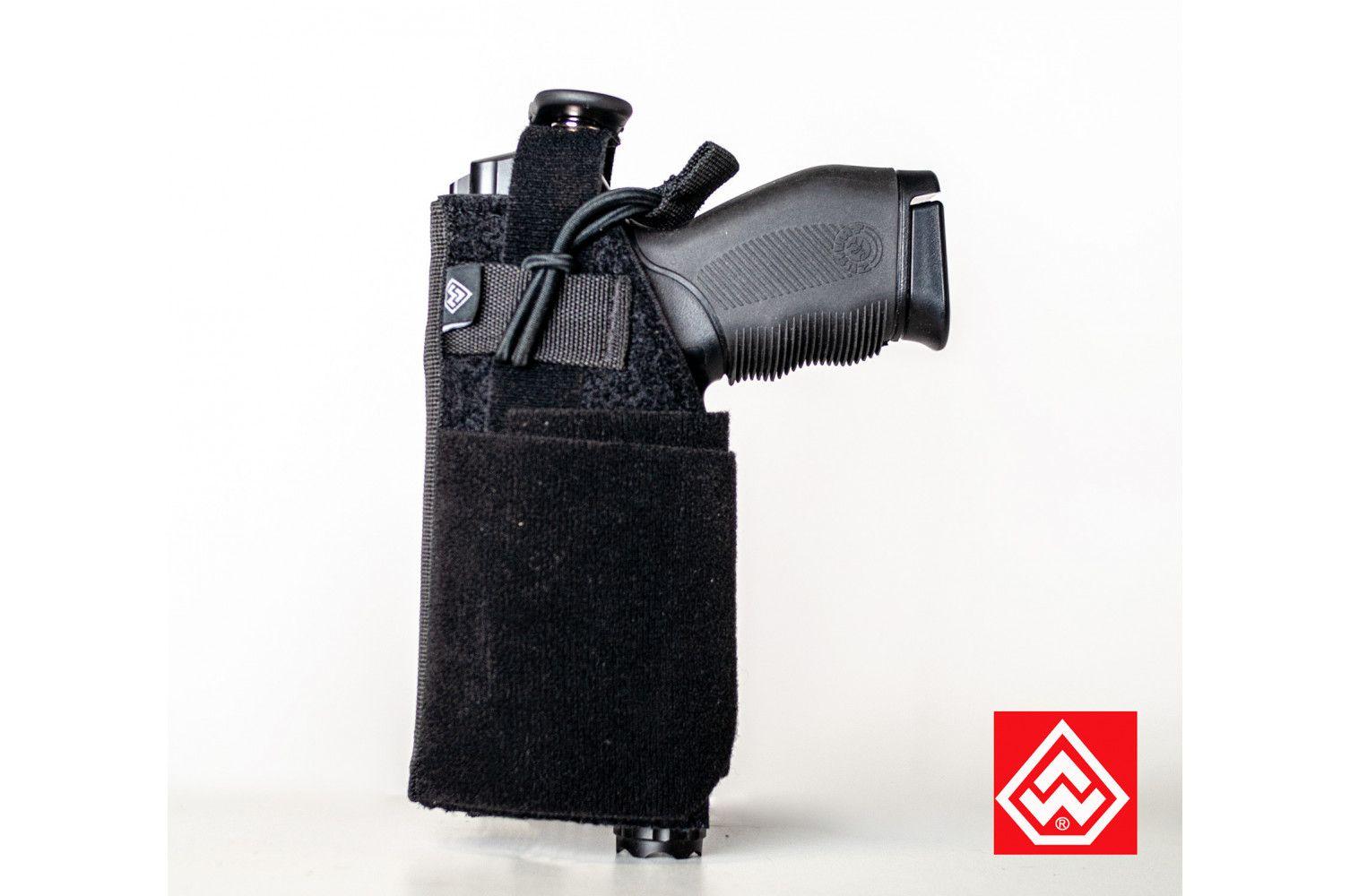 Coldre Police MOLLE Canhoto para Pistola - Black