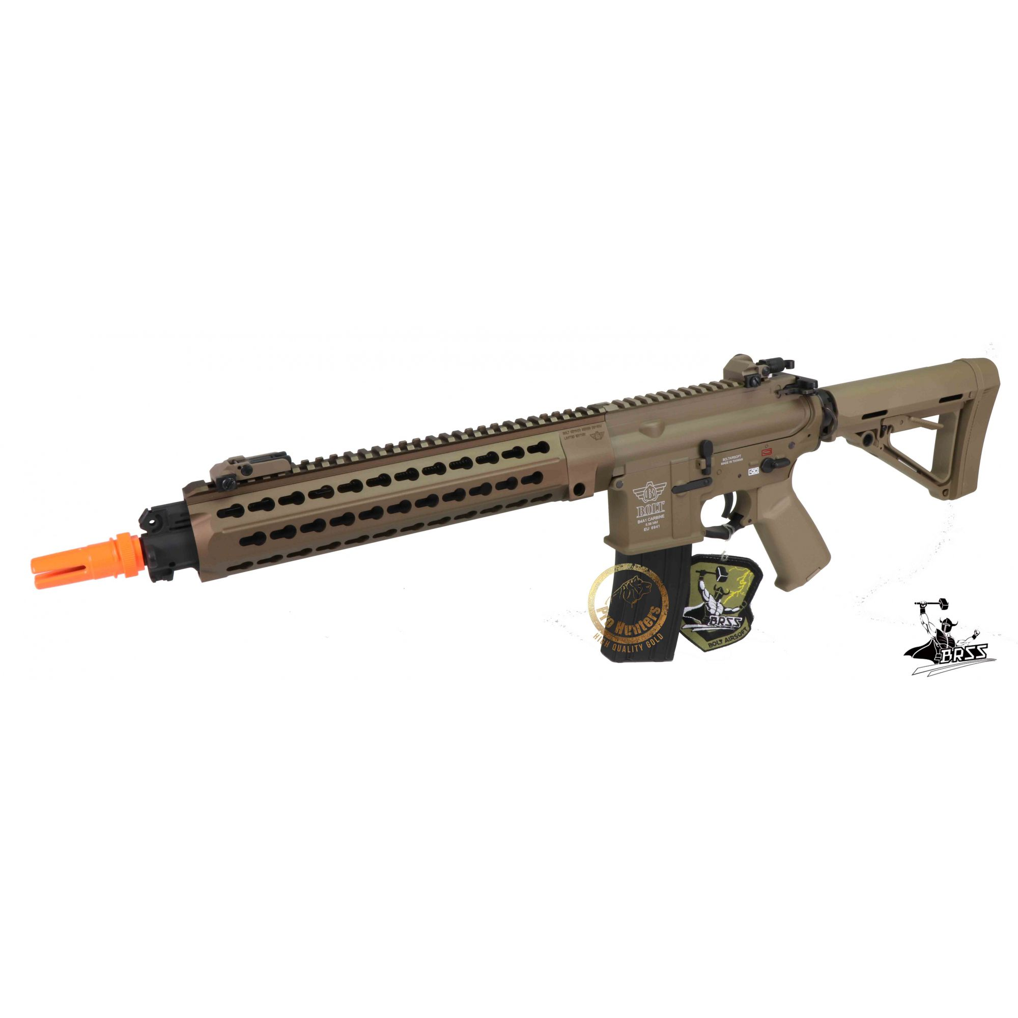 Rifle Airsoft M4 BOLT B4 DEVGRU K12 - Tan Full Metal - Blowback & Recoil System