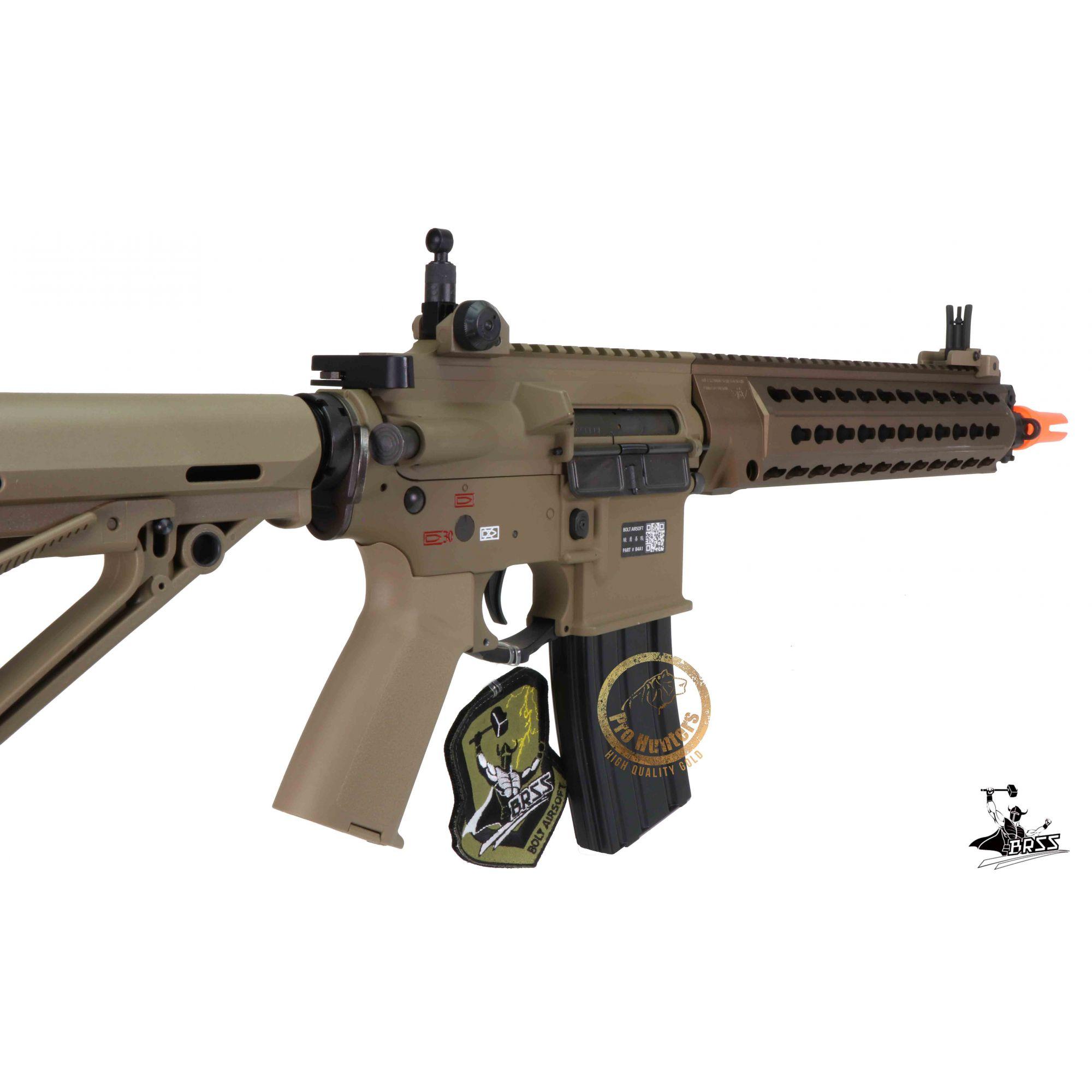 Rifle Airsoft M4 BOLT B4 DEVGRU K12 - Tan Full Metal - Blowback & Recoil System - FRETE GRÁTIS