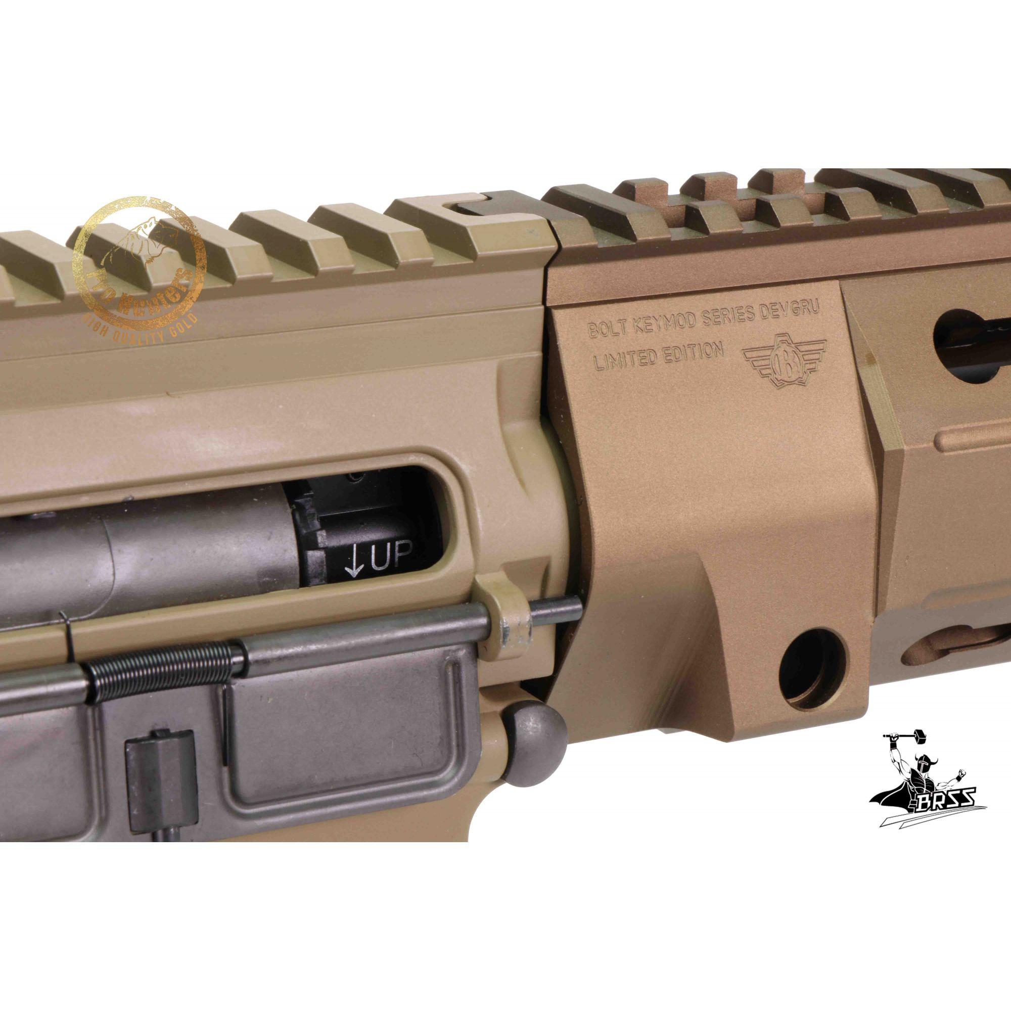 Rifle Airsoft M4 BOLT B4 DEVGRU K12 - Tan Full Metal - Blowback & Recoil System