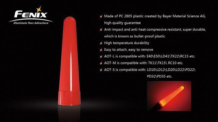 Difusor Fenix AOT-L Para Lanternas Com Cabeça De 40mm