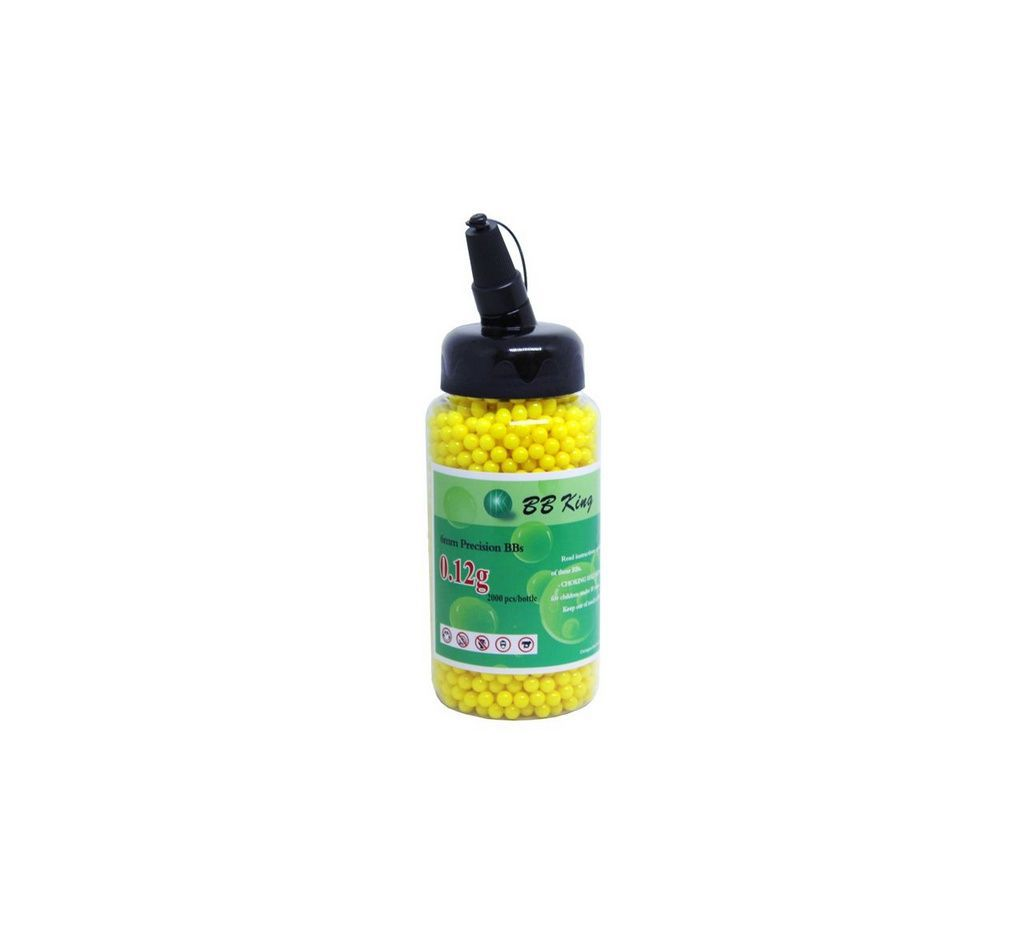 Esfera Plast Airsoft BBK 0,12G Amarela (2000Un) 6MM