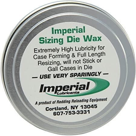 Cera para lubricação de estojos para calibragem ( Redding Imperial Sizing Die Wax ).
