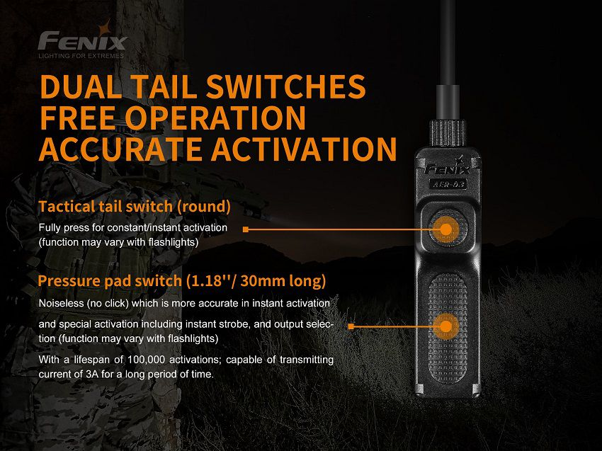 Interruptor tático AER-03 V2.0 - Modelo 2019
