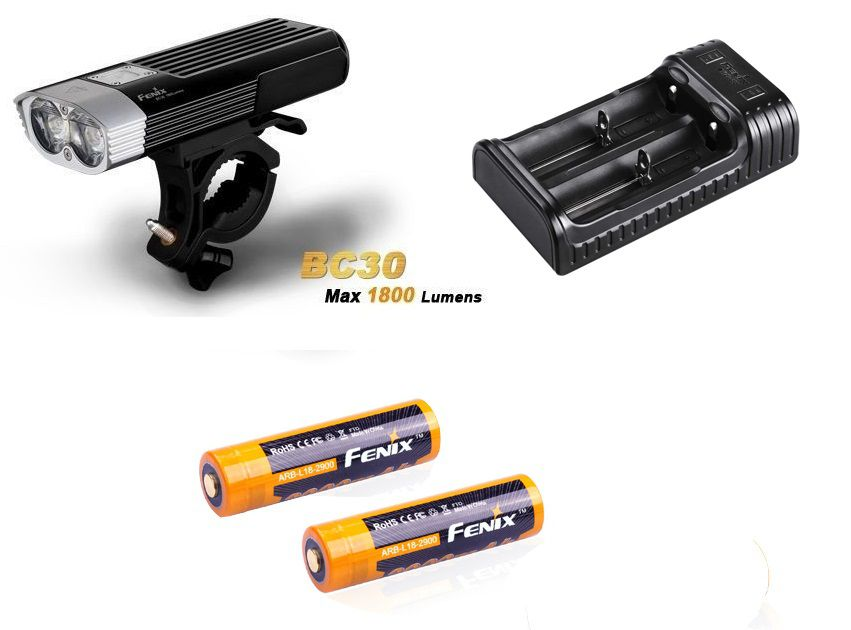 KIT BC30 - 1800 Lumens + 2x Baterias 2900mah + Carregador Are-X2