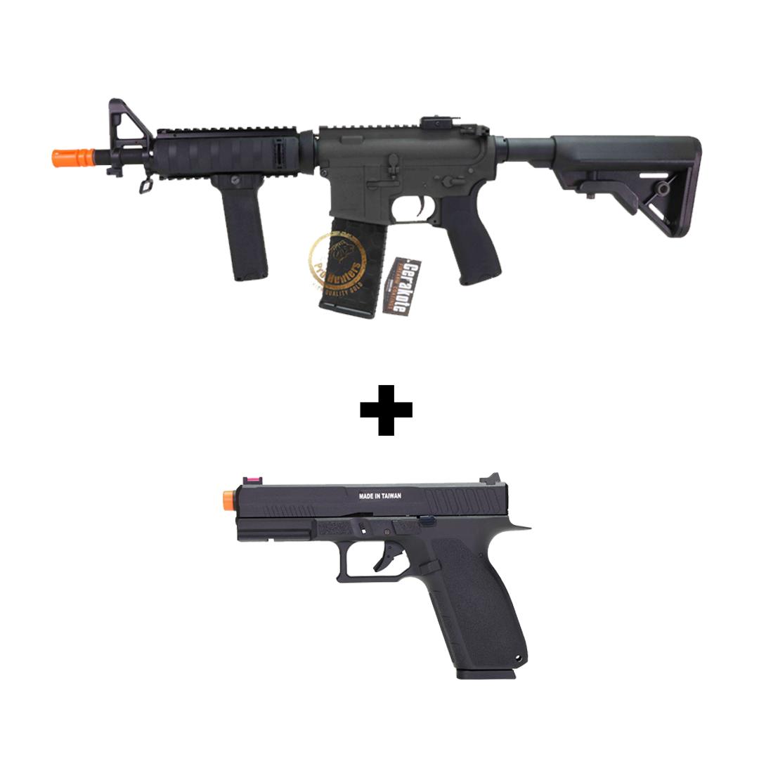 KIT Dytac M4 CQBR RIS 10.5 Pol + Pistola KJ Works KP13 Gbb