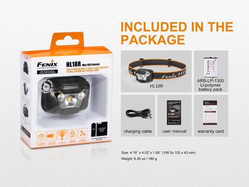 Lanterna de Cabeça HL18R - 400 Lumens