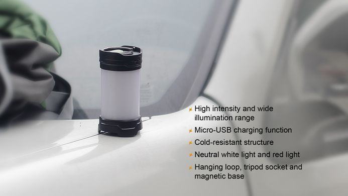 Lanterna Fenix CL25R Preta- Para Camping - 350 Lúmens