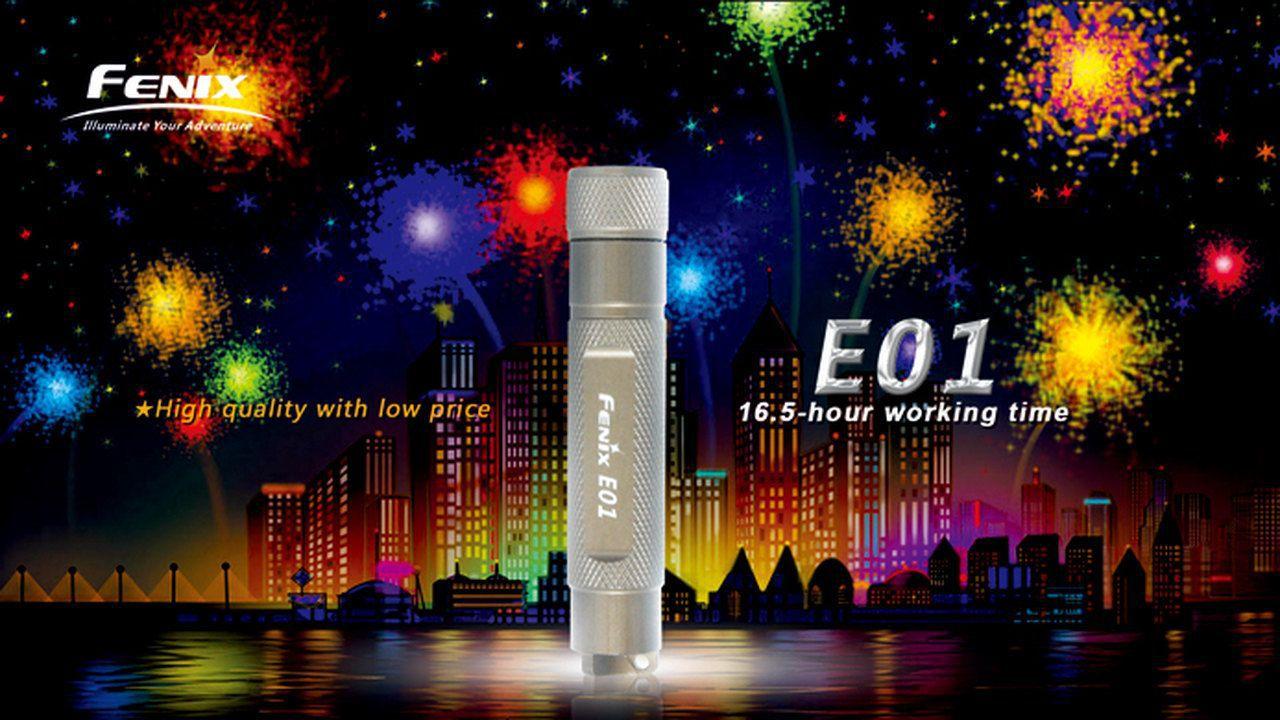 Lanterna Fenix E01 Olive - 13 Lúmens