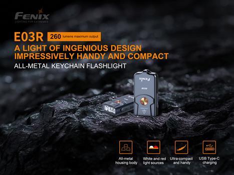 Lanterna Fenix E03R - 260 Lumens