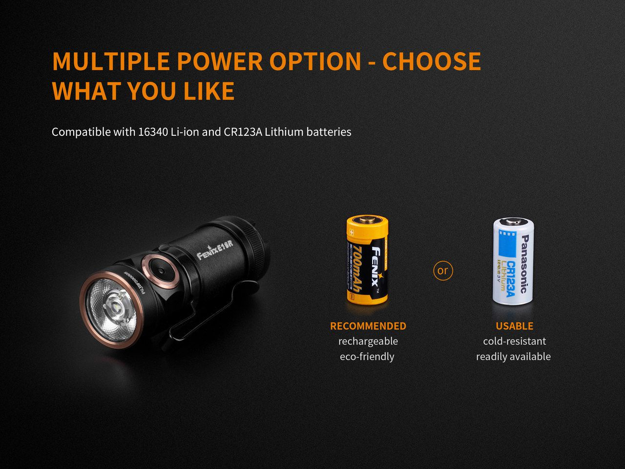 Lanterna Fenix E18R - 750 Lumens