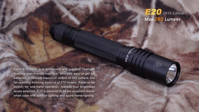 Lanterna Fenix  E20 - 265 Lumens