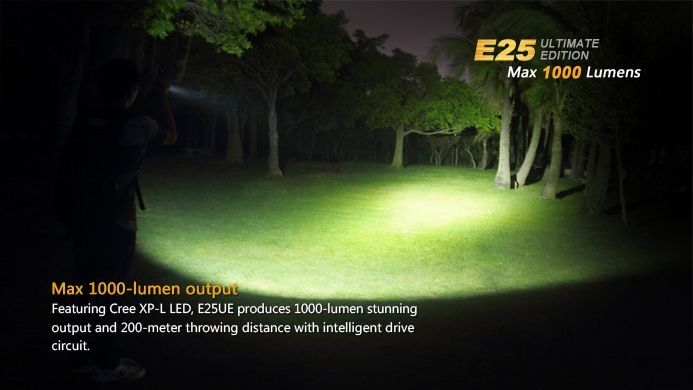 Lanterna Fenix E25 Ultimate Edition- 1000 Lumens