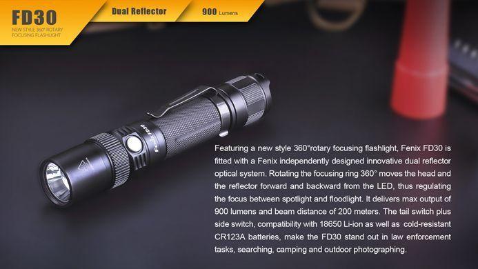 Lanterna Fenix FD30 - O Foco Que Se Ajusta Para Suas Tarefas- Até 900 Lumens