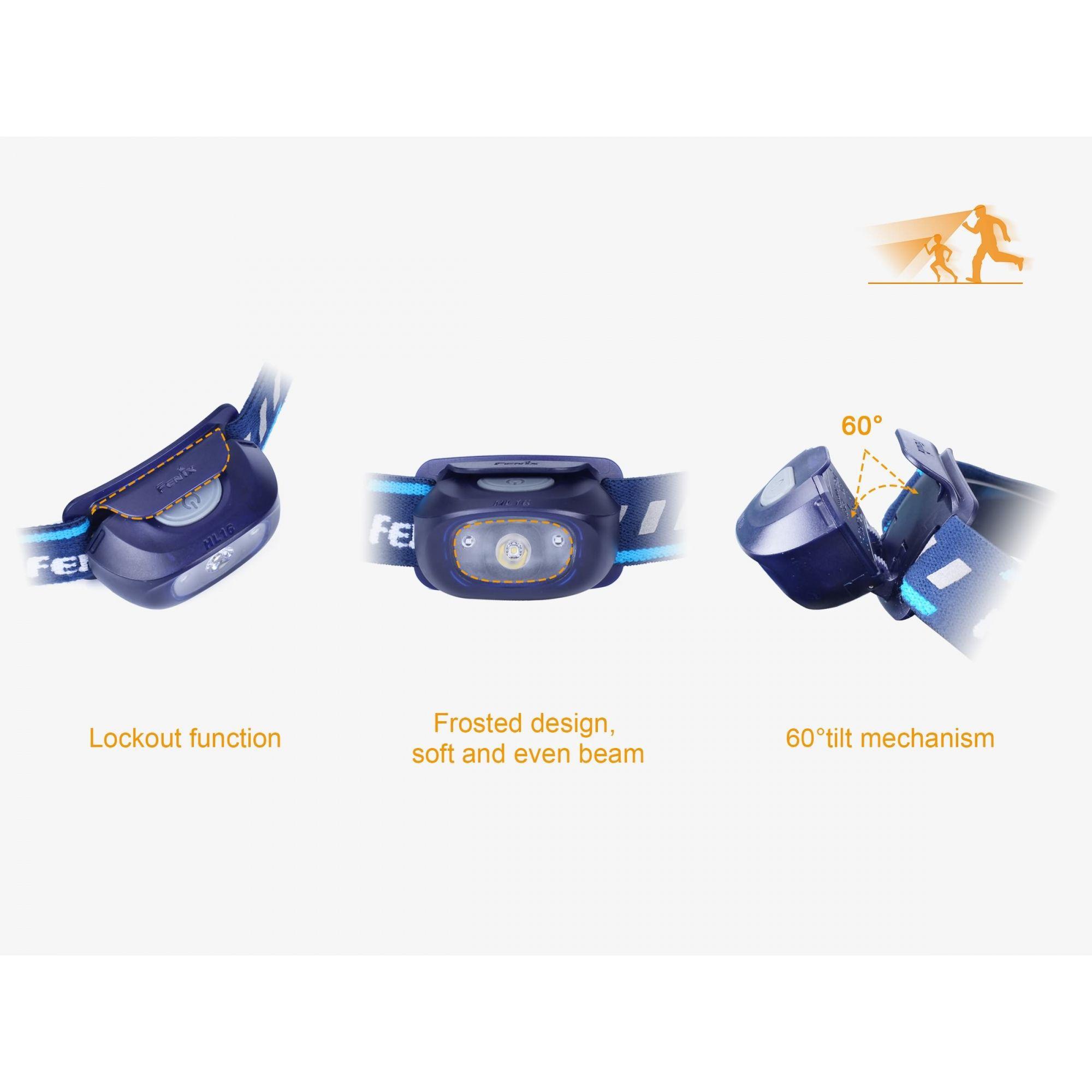 Lanterna Fenix - HL16 Azul - 70 Lúmens