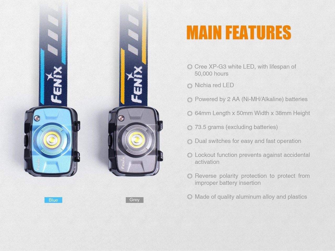 Lanterna Fenix - HL30 2018 Azul - 300 Lúmens