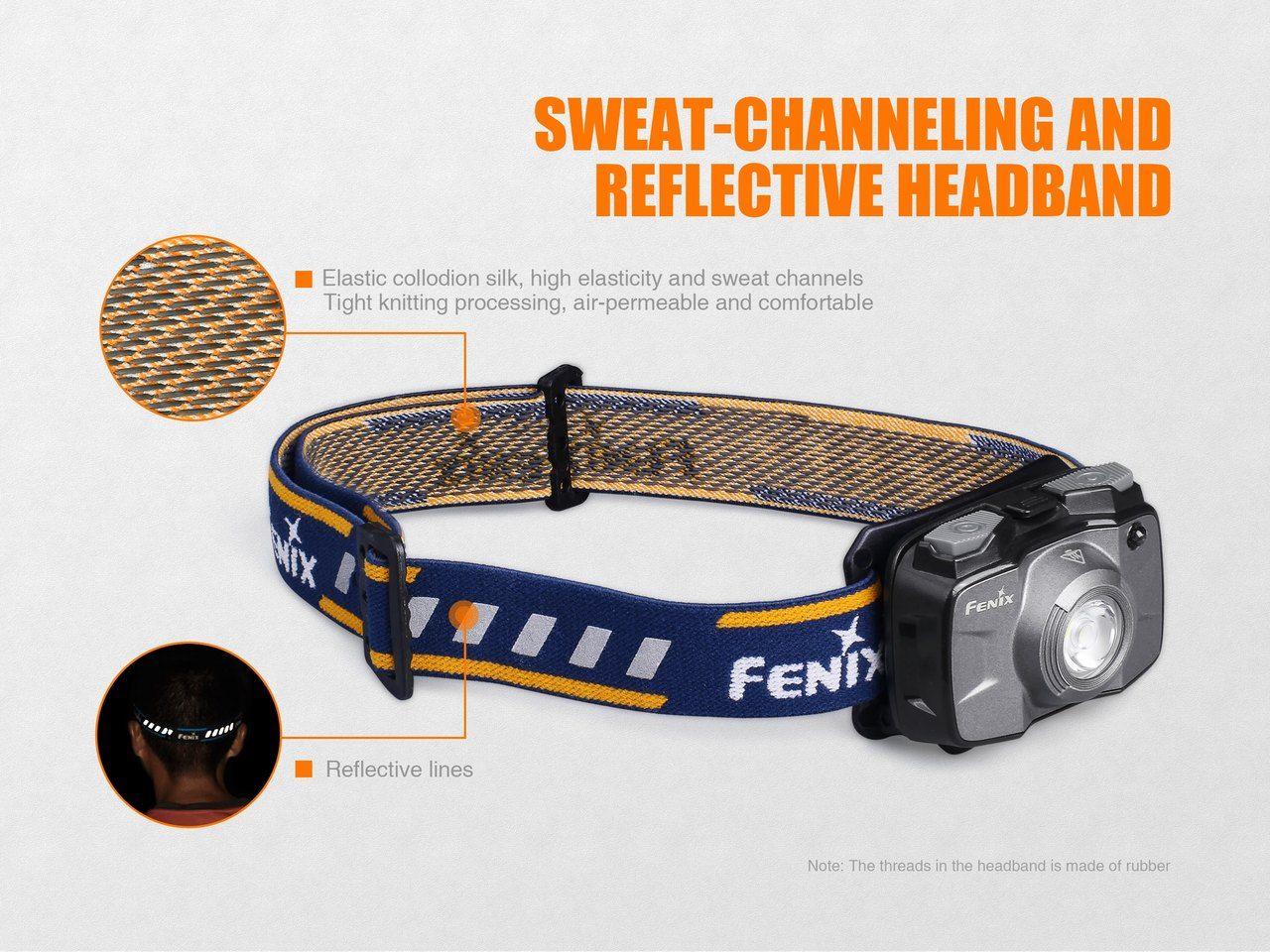 Lanterna Fenix - HL30 2018 Cinza - 300 Lúmens