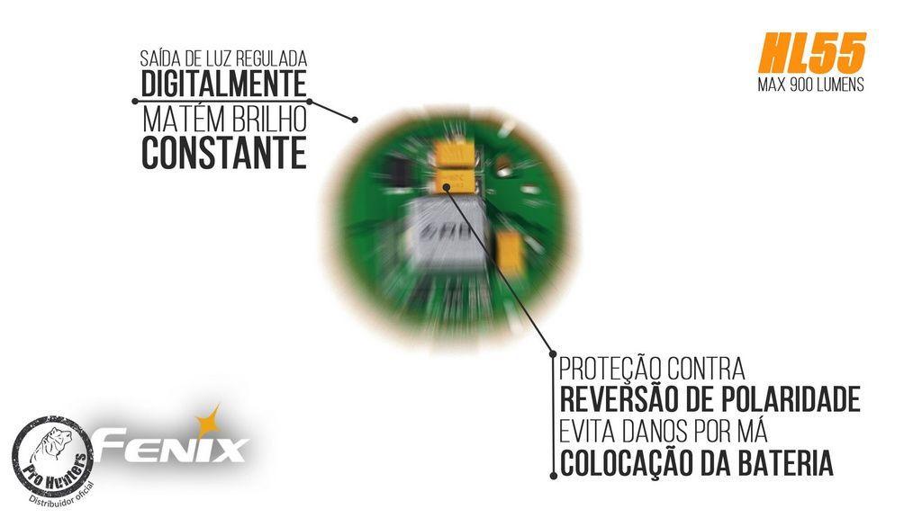 Lanterna Fenix HL55 - Autonomia De Até 150h - 900 lúmens