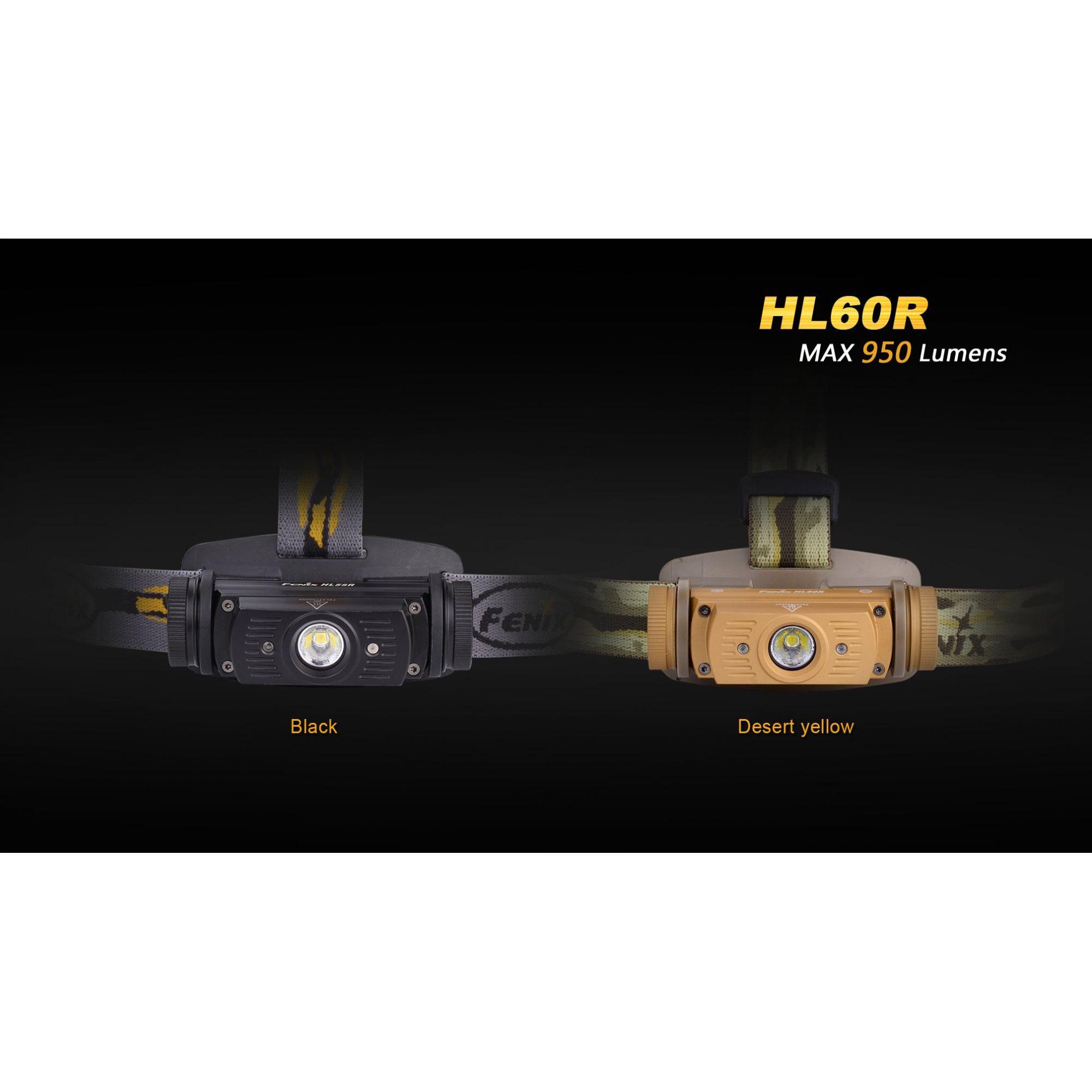 Lanterna Fenix HL60R Amarelo Desert 950 Lumens