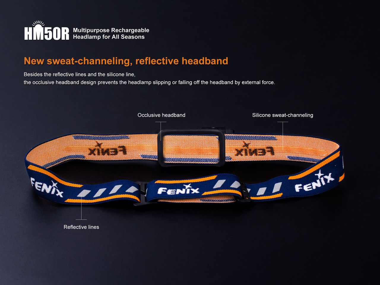 Lanterna Fenix HM50R - 500 Lumens