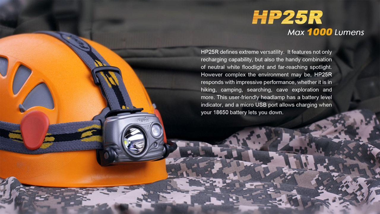 Lanterna Fenix - HP25R Cinza - 1000 Lúmens