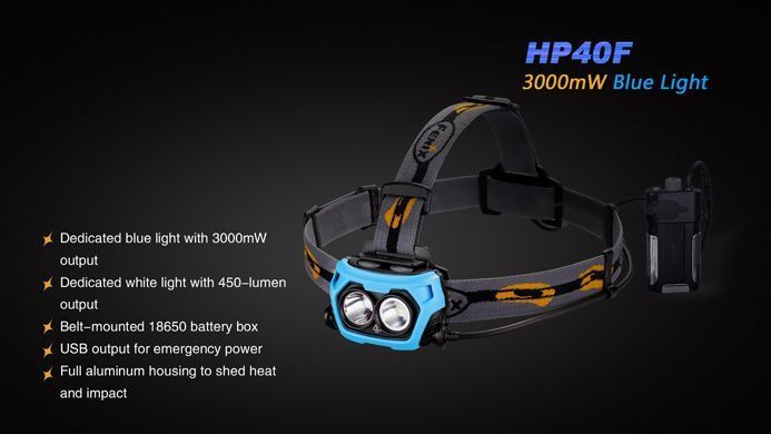 Lanterna Fenix HP40F - Perfeita Para Pesca - 450 lúmens