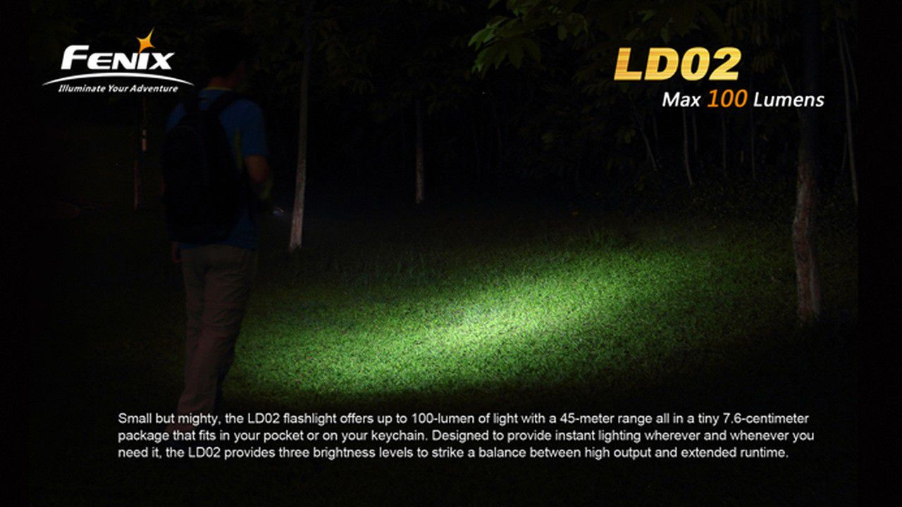 Lanterna Fenix LD02 - 100 Lumens