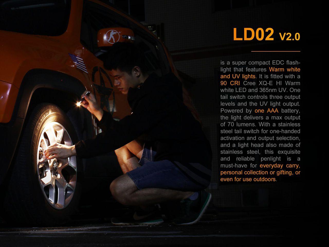 Lanterna Fenix LD02 V2.0 - 70 Lumens