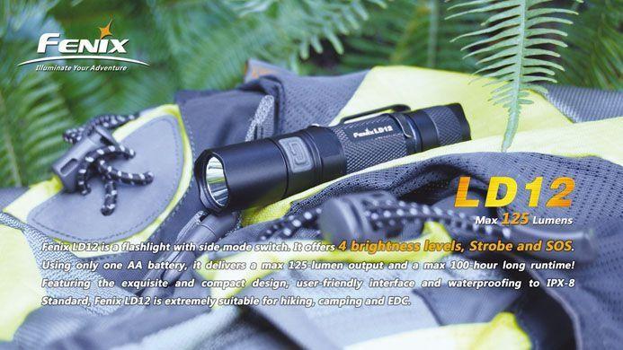 Lanterna Fenix LD12 - Autonomia De Até 100h - 125 Lumens