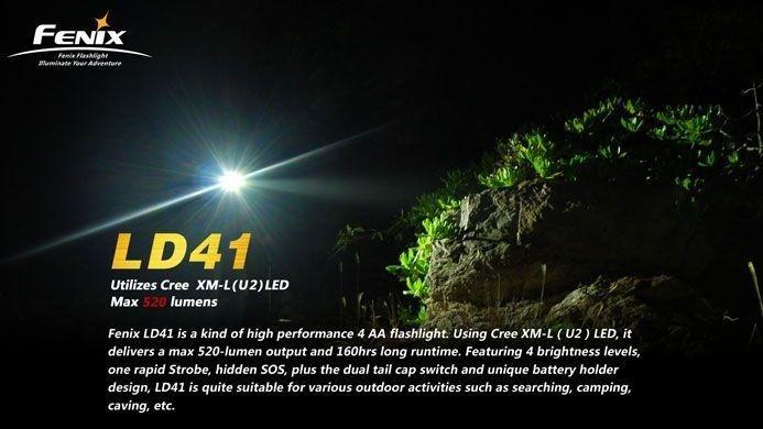 Lanterna Fenix LD41 - Alcance De Até 200m - 520 Lumens