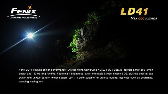 Lanterna Fenix LD41 - Autonomia DE 160h - 680 Lumens