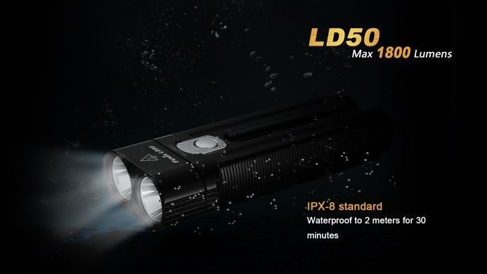 Lanterna Fenix LD50 - Com Led Independentes - 1800 Lumens