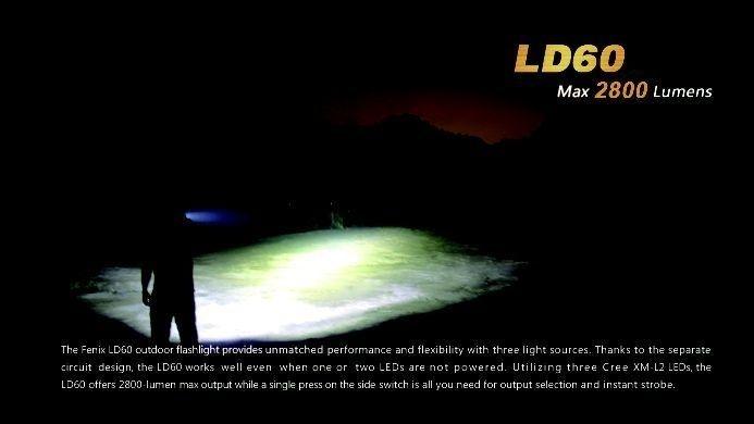 Lanterna Fenix LD60 - Alcance De Até  460m- 2800 Lumens