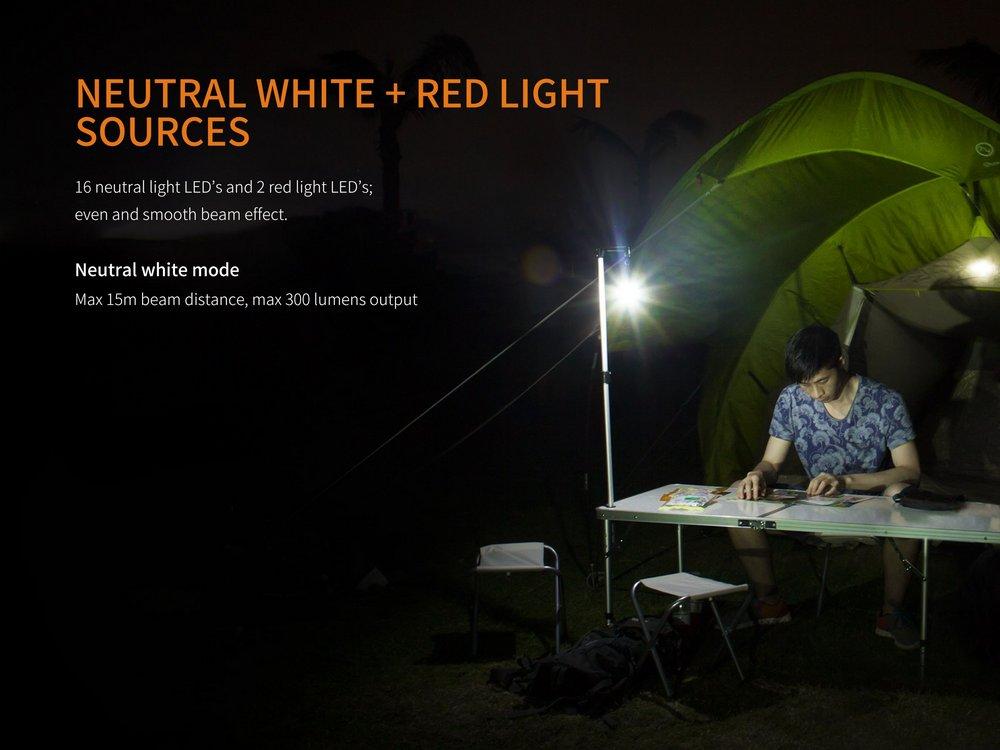 Lanterna Fenix - Modelo CL20R 300 Lúmens Laranja