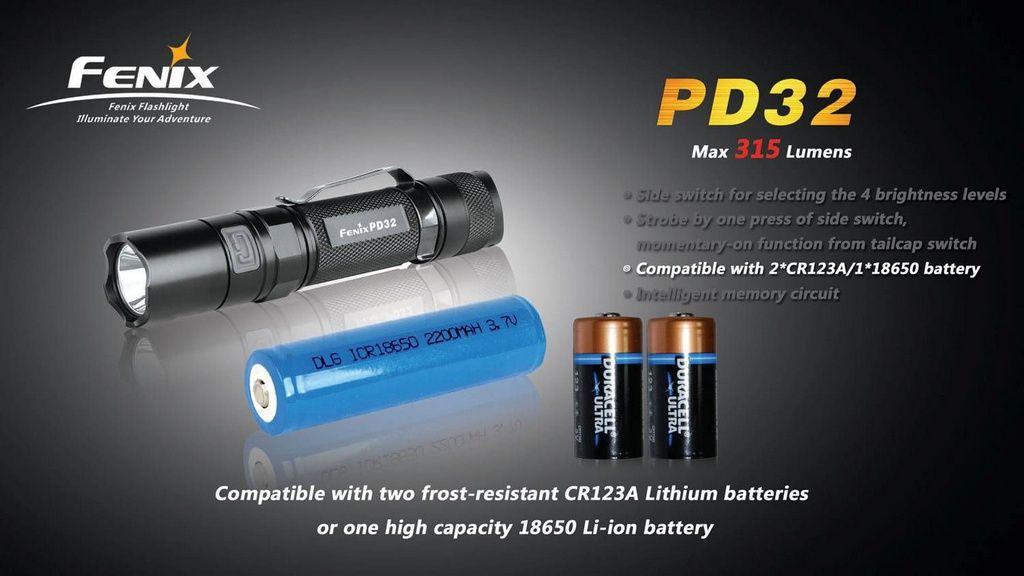 Lanterna Fenix PD32 - Autonomia DE 200h - 315 lumens